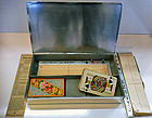 Rare Bridge Box WMF Art Deco Silver plate, Germany C.19