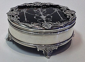 Fine Silver faux Tortoiseshell Box, London 1910,