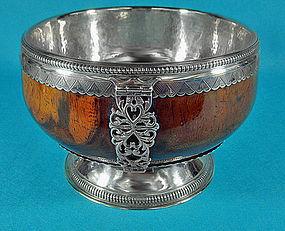 Geo V Fine large silver maple Mazer Bowl Birmingham1932