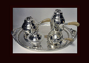 William deMatteo American Sterling Tea & Coffee Service