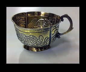 Russian Silver parcel gilt Charka, Moscow 1770
