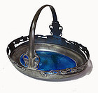 Archibald Knox Liberty Co pewter enamel basket English