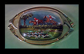 Very Fine Reverse Intaglio Crystal depicting `The Hunt'