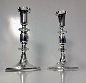 Cartier pair of sterling silver candlesticks, Cartier,