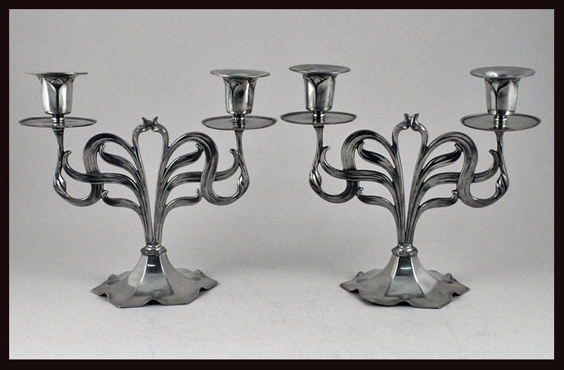 Orivit Jugendstil Secessionist Art Nouveau Candelabra