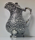 Kutch Silver, India 19th century covered Jug, C.1880.