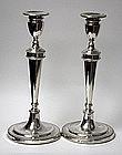 Pair of Georgian Silver Candlesticks  1789 Geo Ashworth