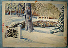 GEORGE CULLEY WATERCOLOUR PAINTING 1981 Canada