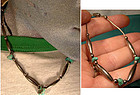 NAVAJO STERLING & TURQUOISE NECKLACE & BRACELET