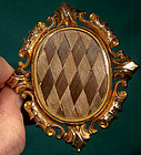 Large 10K ROTATING HAIR BROOCH with PHOTO c1860-70
