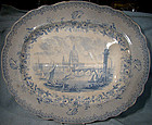 "RA Kidston 20"" LONDON United Kingdom MEAT PLATTER c1840"