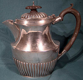 Edwardian STERLING HOT WATER POT - Birmingham 1906