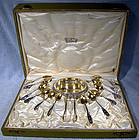 POSEN 800 SILVER COFFEE SET FOR 12 IN BOX c1905-10