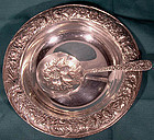 Kirk & Sons STERLING REPOUSSE NUT BOWL with SPOON