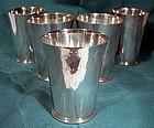 Vintage JAKOB GRIMMINGER STERLING JULEP CUPS