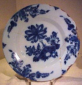 Authentic DUTCH DELFT DEEP PLATE C1700-20