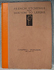 FRENCH ETCHINGS FROM MERYON TO LEPERE BOOK 1922
