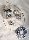 BIRKS ESTY ACQUATIKA STERLING SET in BOX
