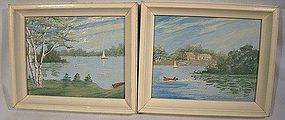 MINIATURE OIL PAINTINGS Gateway Hotel GRAVENHURST ONT
