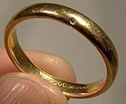 Vintage 18K YELLOW SOLID GOLD WEDDING BAND