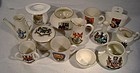 13 Pc. Vintage ENGLISH CRESTWARE SOUVENIR CHINA