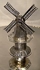 Vintage DUTCH SILVER MINIATURE WORKING WINDMILL