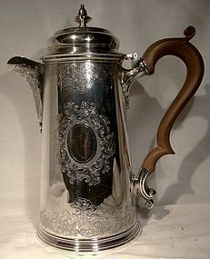 Fine Engraved ELLIS BARKER Silver Plated COFFEE POT