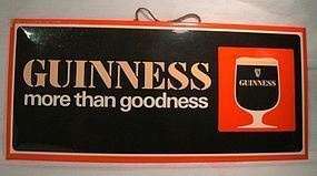 Vintage GUINNESS BAR STANDUP HANGING ADVERTISING SIGN