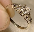 ART DECO 18K WHITE GOLD DIAMONDS RING w/ Appraisal