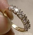 14K BIRKS DIAMOND ROW ANNIVERSARY BAND RING