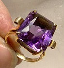 10K Amethyst Cocktail Ring c1940s  Great Retro