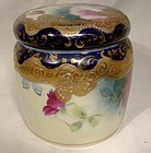 Antique Royal Nippon Hand Painted Covered Dresser Jar 1880-90