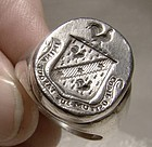 Laws Scottish Family Crest Sterling Silver Intaglio Seal Ring 1900-30