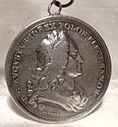 1733 Augustus II Poland Death Commemoration Medal with 1782 Engr.