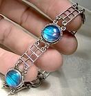 Sterling Butterfly Wing Bracelet 1930s