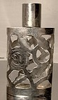 Mexican Sterling Silver Overlay Perfume Bottle 1950s-60s