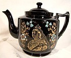 Queen Victoria Diamond Jubilee China Teapot with Enamel Decoration