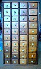 Antique Pine Store Spice Cabinet 40 Drawer 19th Century Refinished