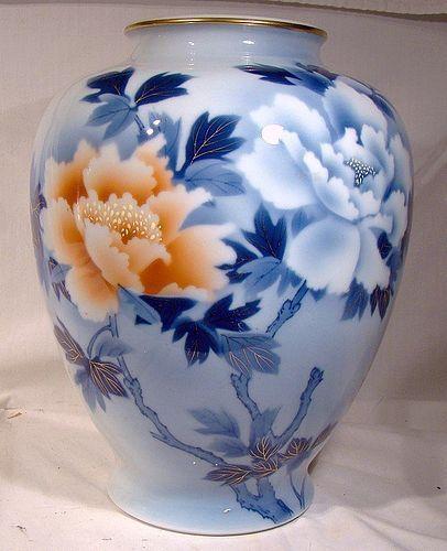 Fukagawa Seiji 9 34 Tree Peony Japan Porcelain Vase 1900 20 Item