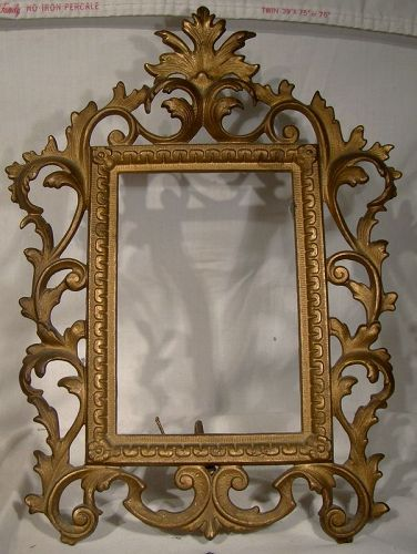 victorian gilt cast iron stand up picture frame 1890 1900 item 1358044. Black Bedroom Furniture Sets. Home Design Ideas