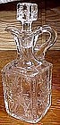19th C LEAF EAPG GLASS DECANTER & STOPPER