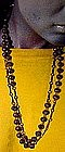 Purple GLASS FLAPPER BEAD NECKLACE c1930