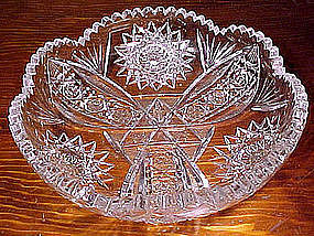 Signed ELITE CLAPPERTON BRILLIANT CUT FRUIT BOWL