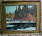 FRANZ JOHNSTON GROUP OF 7 CANADIAN OIL PAINTING Francis Hans Frank