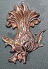 ART NOUVEAU KERR STERLING THISTLE BROOCH c1900