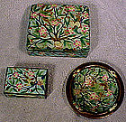 CHINESE WIRELESS CLOISONNE ENAMEL SMOKING SET c1900
