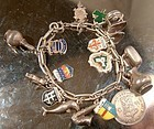 Early DUTCH STERLING CHARM BRACELET - 17 CHARMS