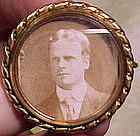 Unusual Victorian RGP LIFTBACK PHOTO BROOCH c1900