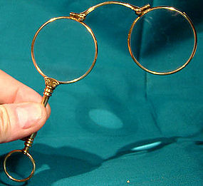 RGP SWING-OUT LORGNETTE EYEGLASSES c1900