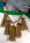 Fabulous GP SAPHIRET TASSELS NECKLACE c1930s